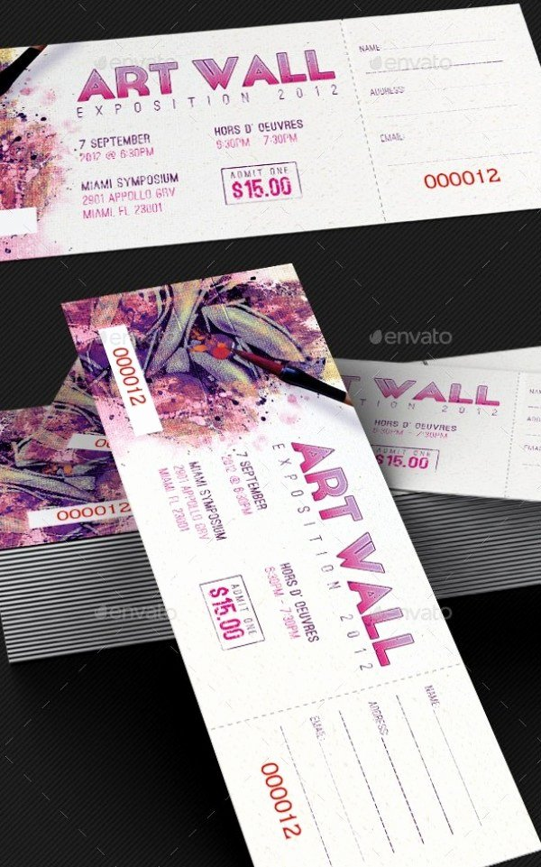 Concert Ticket Template Psd Awesome 46 Print Ready Ticket Templates Psd for Various Types Of