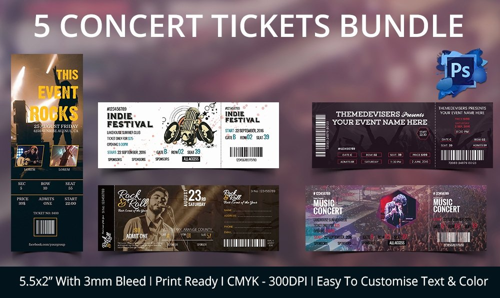 Concert Ticket Template Psd Awesome Ticket Template – 91 Free Word Excel Pdf Psd Eps