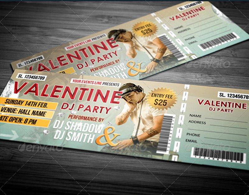 Concert Ticket Template Psd Elegant 18 event Ticket Templates Psd Psdtemplatesblog