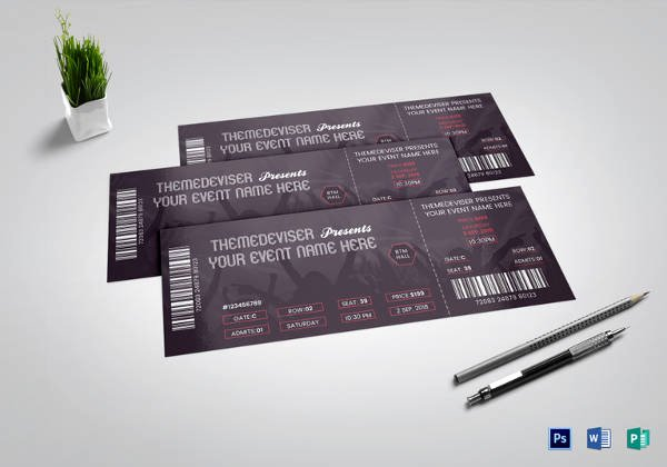 Concert Ticket Template Psd Fresh Ticket Templates – 99 Free Word Excel Pdf Psd Eps