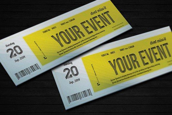 Concert Ticket Template Psd Inspirational 9 event Ticket Template Psd event Ticket Template