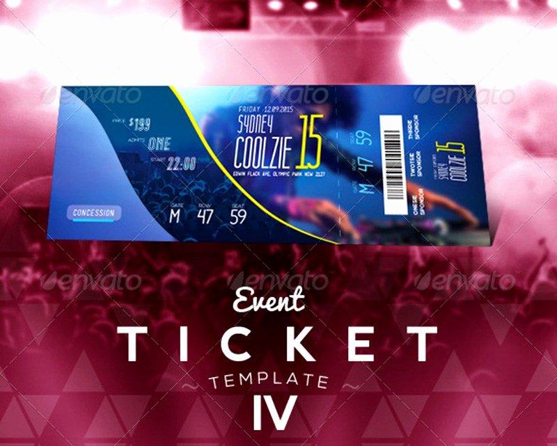 Concert Ticket Template Psd Lovely 20 Best event Concert Ticket Psd Templates