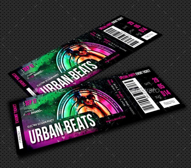 Concert Ticket Template Psd Luxury 18 event Ticket Templates Psd Psdtemplatesblog