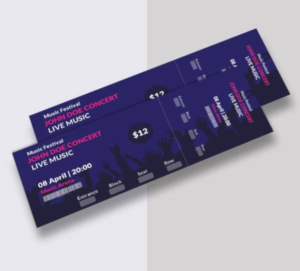 Concert Ticket Template Psd New 21 Music Concert Ticket Designs & Templates Psd Ai
