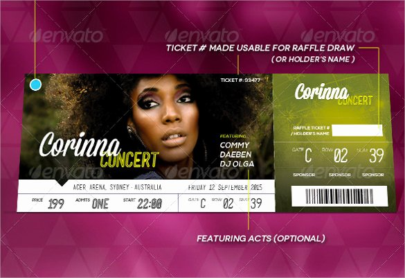 Concert Ticket Template Psd Unique 36 Printable Ticket Templates Psd Ai Word