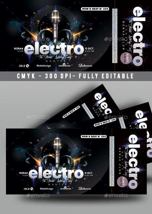 Concert Ticket Template Psd Unique 81 Ticket Templates Free Download