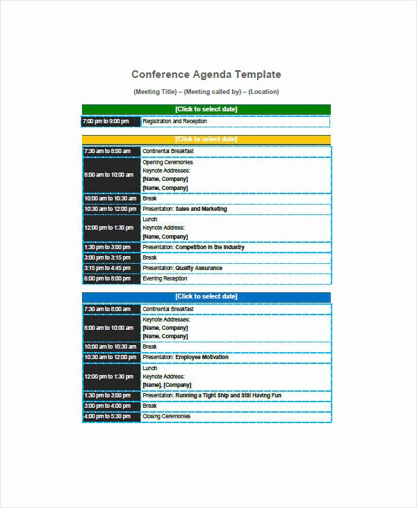 Conference Call Agenda Templates Awesome Free 31 Agenda Templates & Examples In Pdf Doc