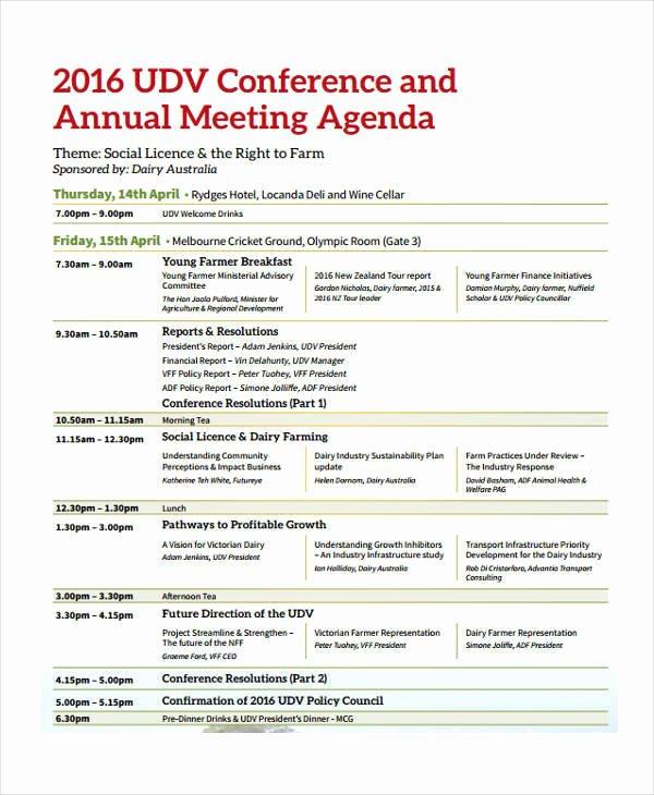 Conference Call Agenda Templates Elegant 11 Conference Agenda Templates Pdf