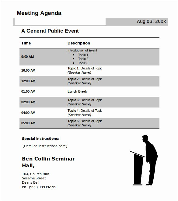 Conference Call Agenda Templates Inspirational 50 Meeting Agenda Templates Pdf Doc