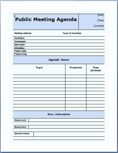 Conference Call Agenda Templates New 10 formally Used Agenda Templates
