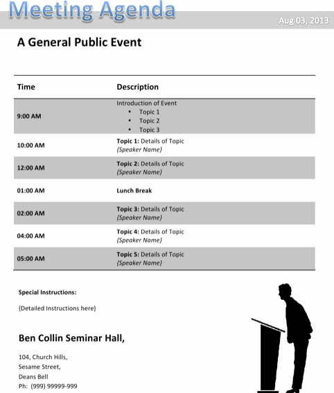 Conference Call Agenda Templates New Download Conference Agenda Template for Free formtemplate