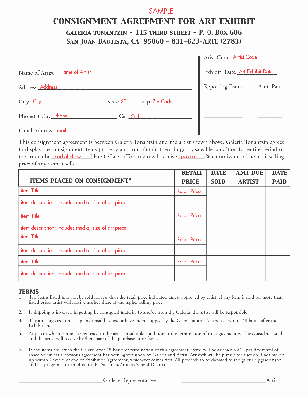 Consignment Agreement Template Free Best Of Consignment Agreement Template Free Printable Documents