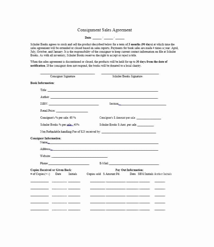 Consignment Agreement Template Free Luxury 40 Best Consignment Agreement Templates & forms