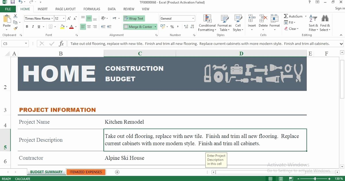 Construction Budget Template Excel Elegant Home Construction Bud Excel Template Engineering