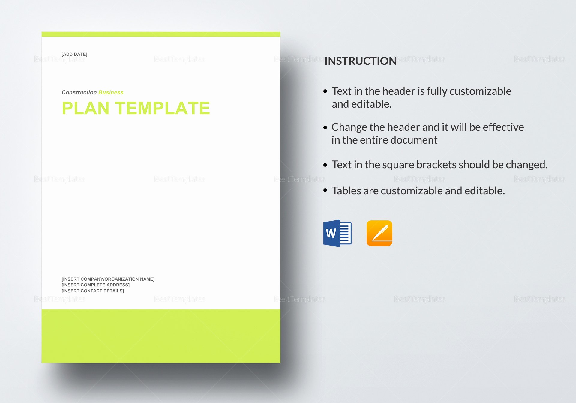 Construction Business Plan Template Awesome Construction Business Plan Template In Word Google Docs