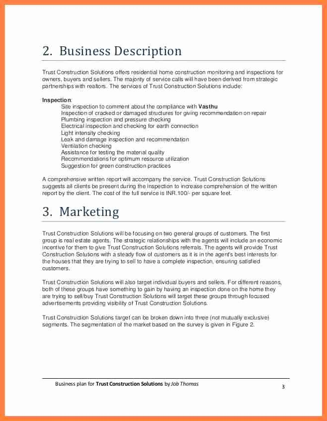 Construction Business Plan Template Fresh 10 Construction Pany Business Plan Template
