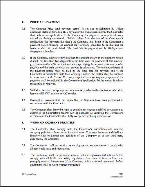 Construction Contract Template Free Awesome Construction Contract Template