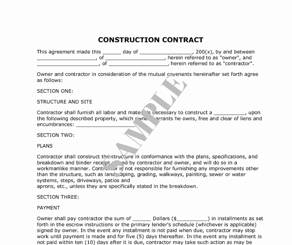 Construction Contract Template Free Inspirational How to Decide the Right Renovation Contractor Kaodim