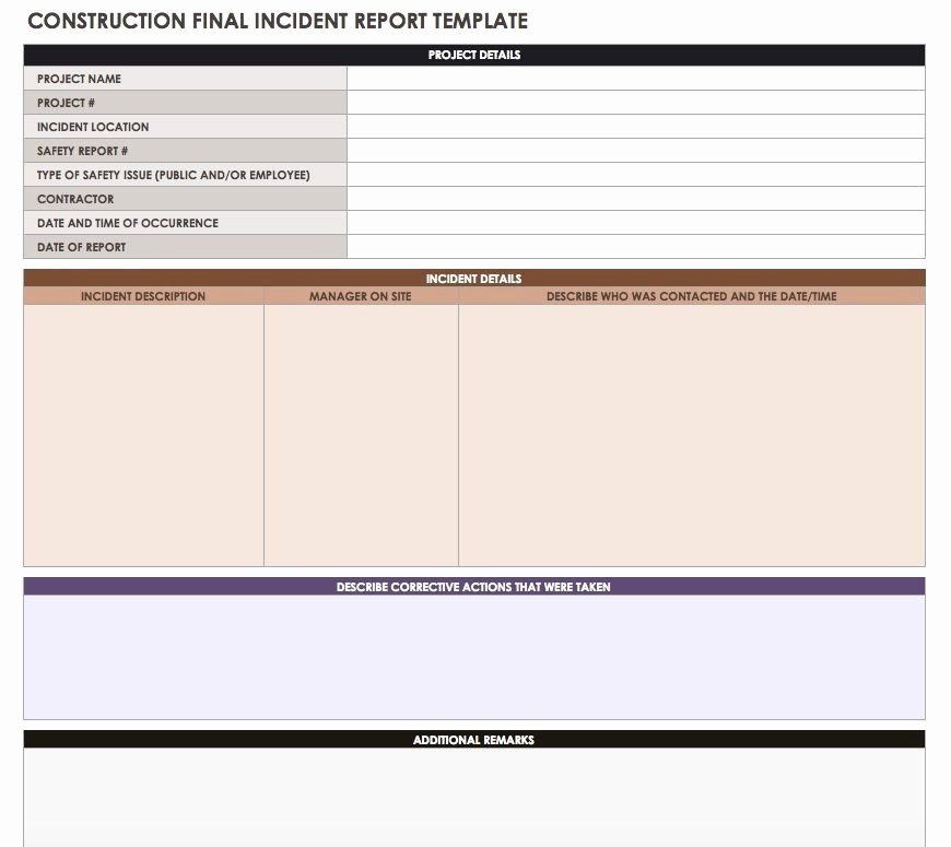Construction Daily Report Template Free Beautiful Construction Daily Reports Templates or software Smartsheet