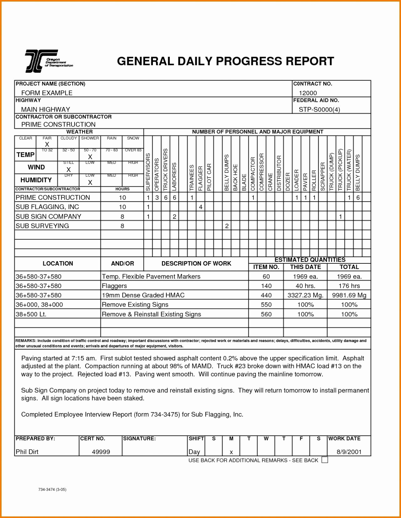 Construction Daily Report Template Free Unique format Of A Progress Report Image – Business Progress