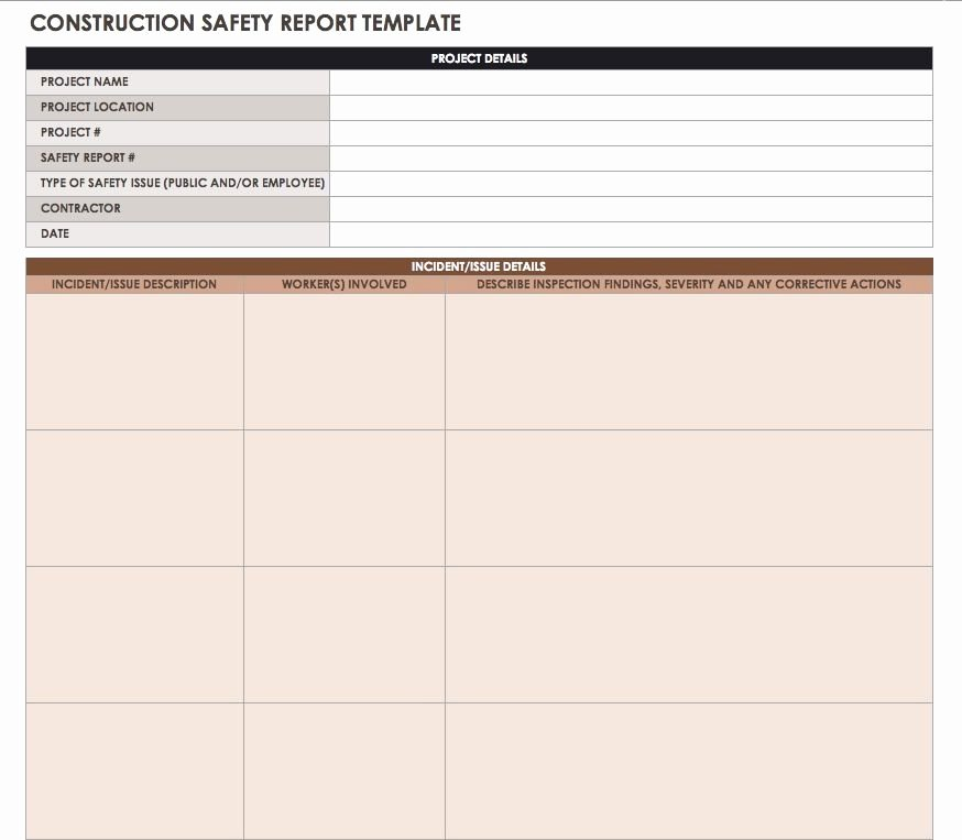 Construction Daily Report Template Fresh Construction Daily Reports Templates Tips Smartsheet