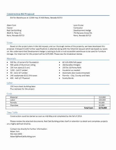 Construction Estimate Template Word Awesome 32 Sample Proposal Templates In Microsoft Word