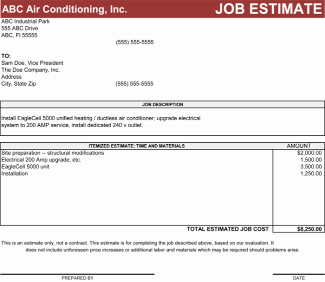 Construction Estimate Template Word Best Of 4 Estimate Templates to Calculate the Estimates for Your