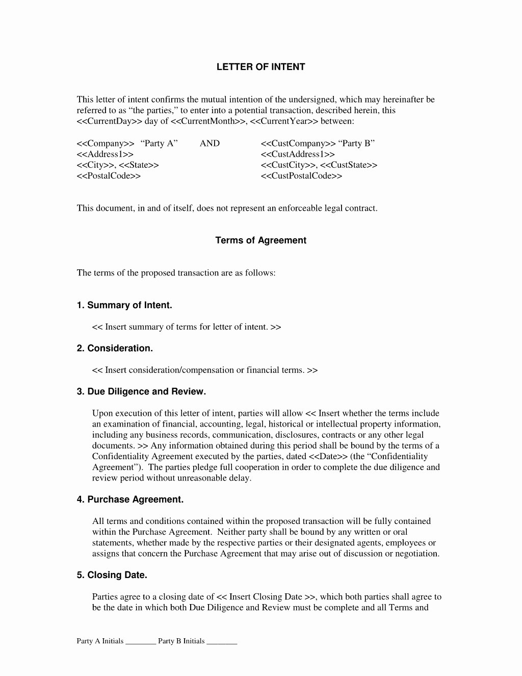 Construction Letter Of Intent Template Beautiful Subcontractor Letter Intent Template Samples