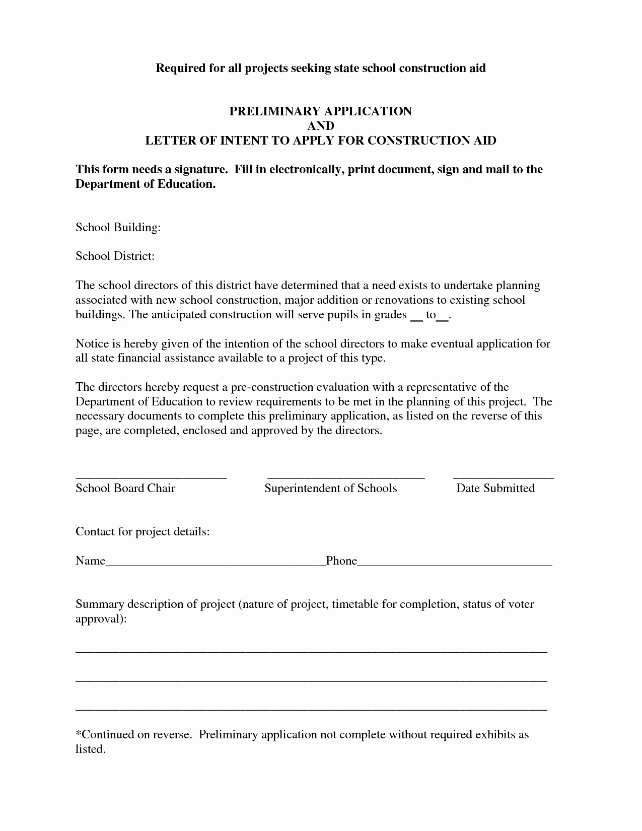 Construction Letter Of Intent Template Inspirational Best S Of Letter Intent Construction