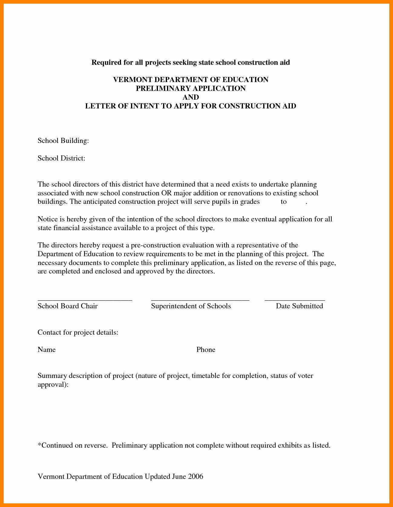 Construction Letter Of Intent Template Inspirational Subcontractor Letter Intent Template Samples