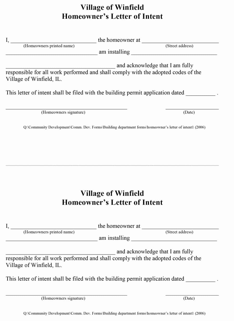 Construction Letter Of Intent Template New Make A Good the Letter Of Intent