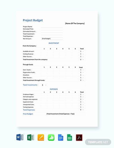 Construction Project Budget Template Unique 10 Construction Bud Templates Doc Pdf Excel