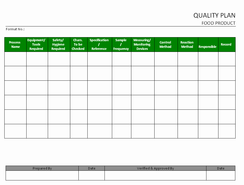 Construction Quality Control Plan Template Beautiful 27 Of Manufacturing Quality Plan Template