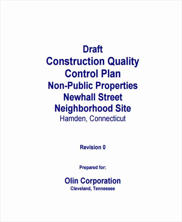 Construction Quality Control Plan Template Elegant 8 Control Plan Samples & Templates Pdf Doc