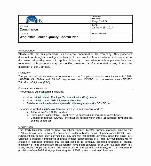 Construction Quality Control Plan Template Elegant Wsopfreechips