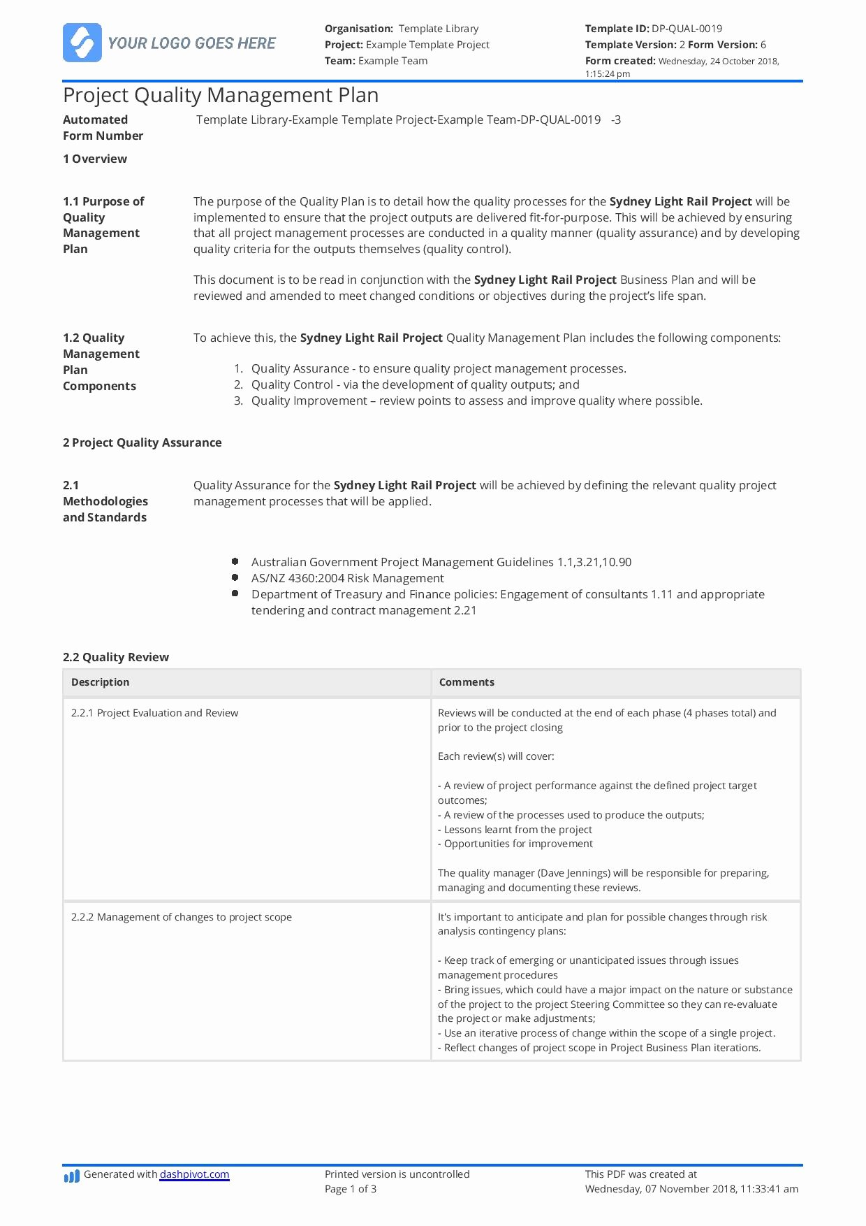 Construction Quality Control Plan Template Inspirational Construction Quality Management Plan [free and
