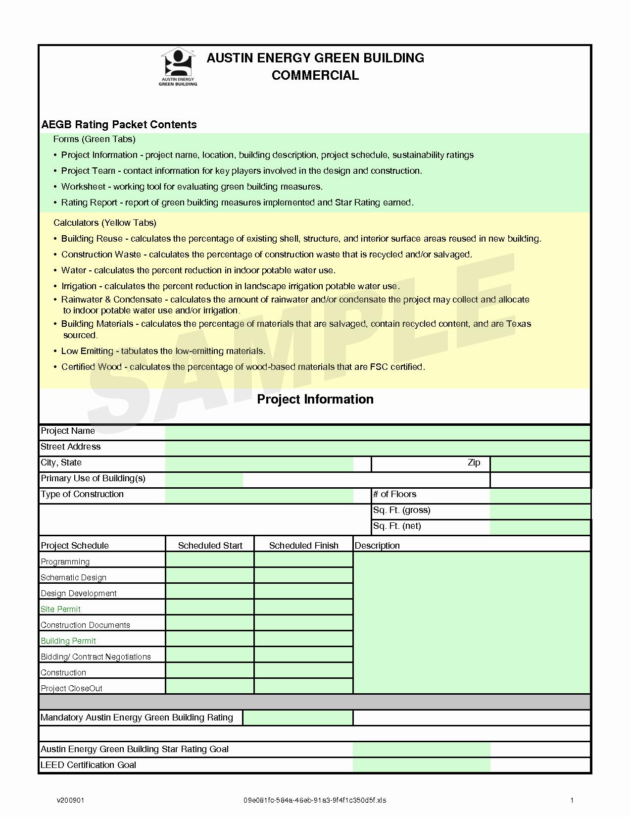post construction work plan template