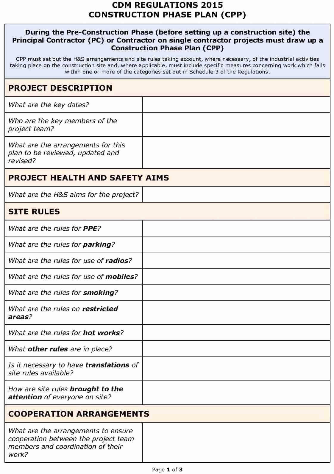 Construction Safety Manual Template Awesome Pin by Joanna Keysa On Free Tamplate