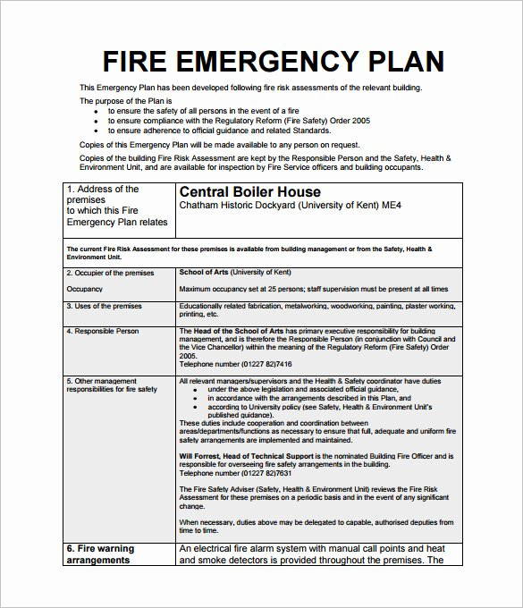 Construction Safety Manual Template Elegant 28 Of Business Emergency Action Plan Template