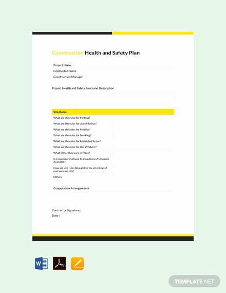 Construction Safety Manual Template New Free Health and Safety Manual Template Download 231