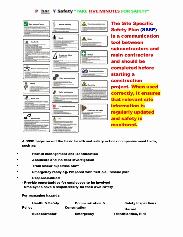 Construction Safety Plan Template Free Luxury Construction Site Safety Plan Template to Pin On