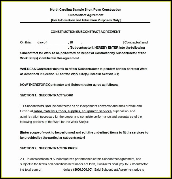 Construction Subcontractor Agreement Template Beautiful Construction Subcontractor Agreement Template Uk