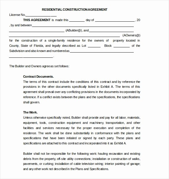 Construction Subcontractor Agreement Template Inspirational 17 Subcontractor Agreement Templates Word Pdf Pages