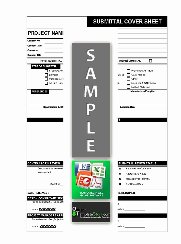 Construction Submittal Cover Sheet Template Awesome Material Drawing Sample Document Submittal form In