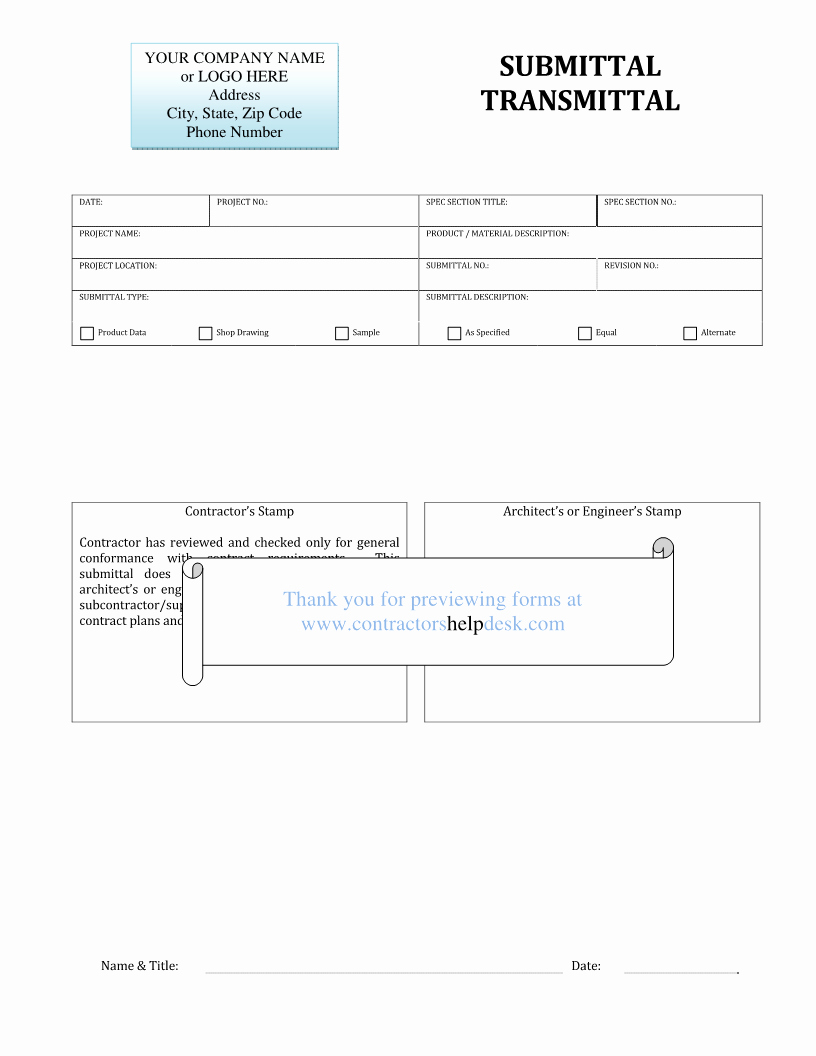 Construction Submittal Cover Sheet Template Beautiful Contractors Help Desk forms