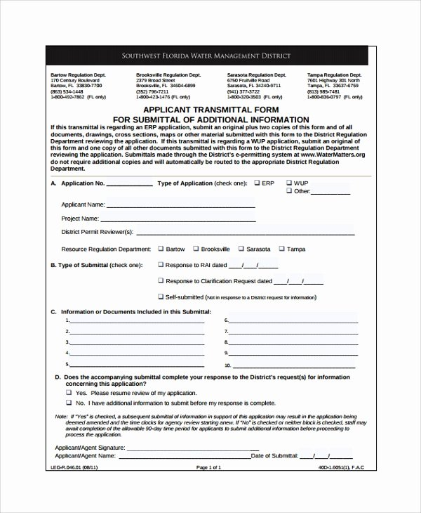 Construction Submittal form Template Beautiful 8 Sample Submittal Transmittal forms Pdf Word