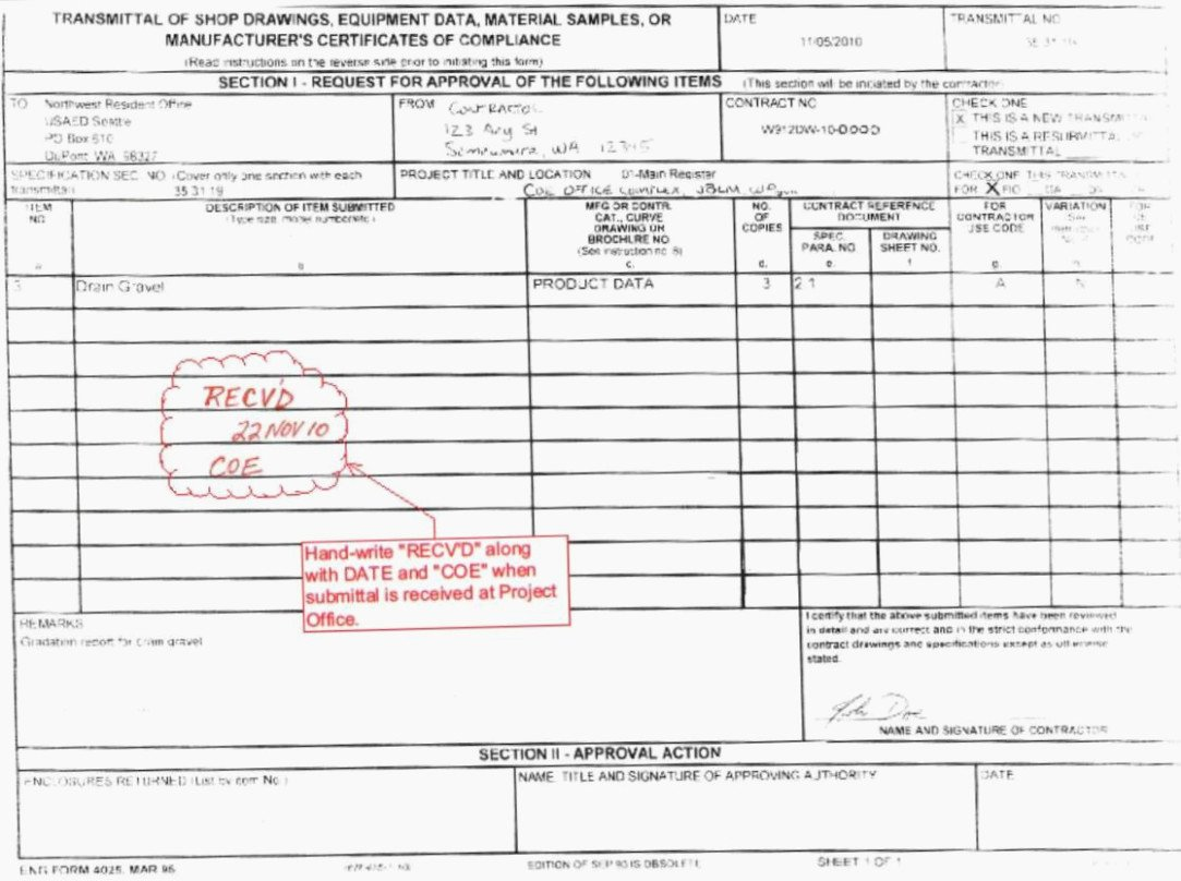 Construction Submittal form Template Best Of Five Shocking Facts About