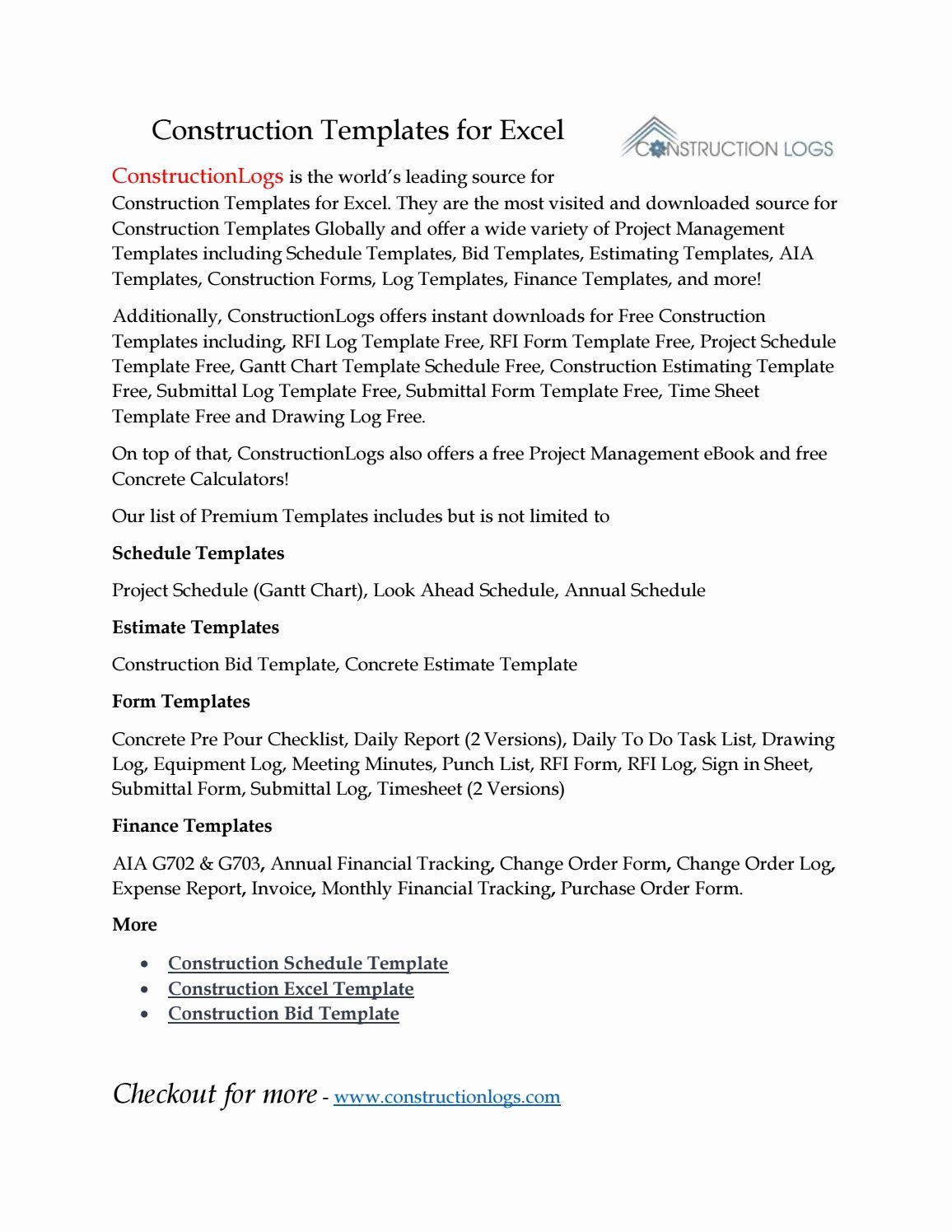 Construction Submittal form Template Fresh Construction Templates for Excel by Robert Stille issuu