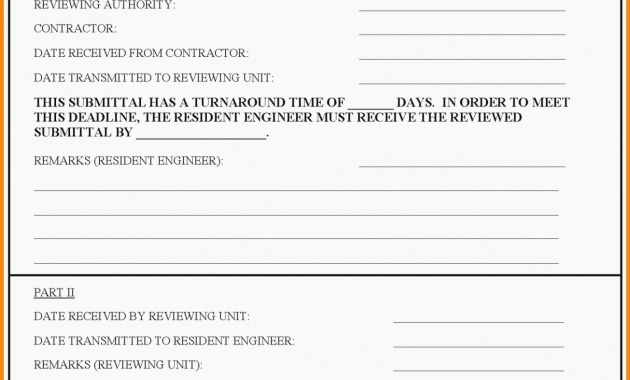 Construction Submittal form Template Fresh Five Shocking Facts About