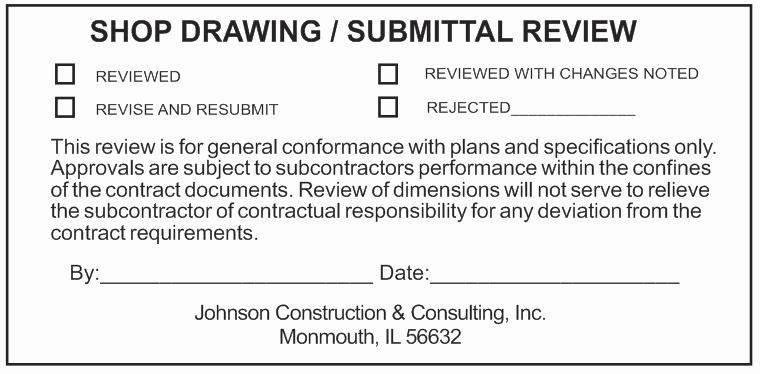 Construction Submittal form Template Luxury Dynamic Digital Stamps